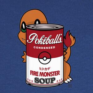 T-shirt fire monster soup