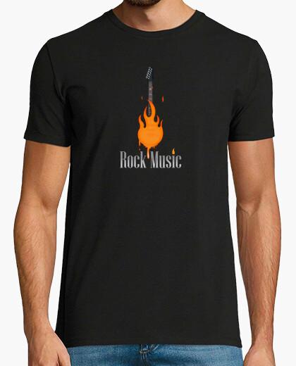 Fire rock music t-shirt