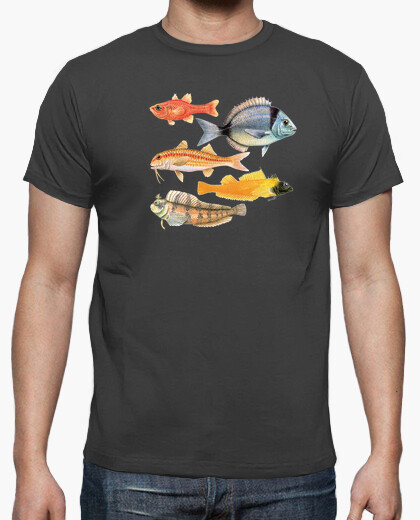 Fishes of the mediterranean t-shirt