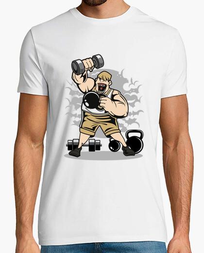 T-shirt fitness grasso