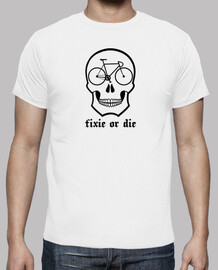 Fixie or die skull white