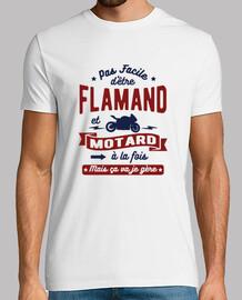 Flamand et motard