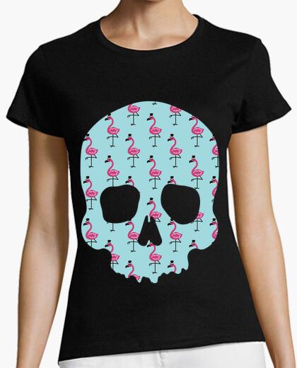 Tee-shirt flamants roses crâne