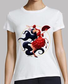 flamenco - camiseta chica