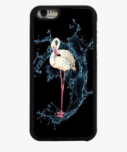 Funda iPhone 6 / 6S flamenco que presenta con el spray de agua