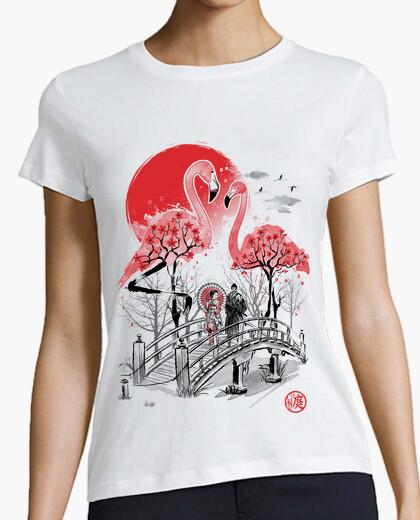 Camiseta Flamingo Garden