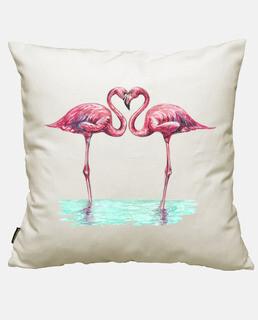 Flamingos Rosen in der liebespaar