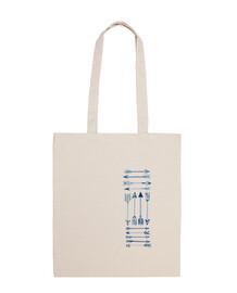 flèches sac bleu