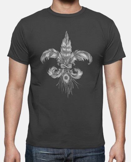 fleur-de-lis of feathers. shirt man
