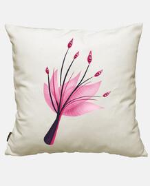 fleur de nénuphar abstraite rose