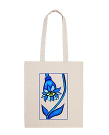 fleur d'oeil effrayant au regard bleu