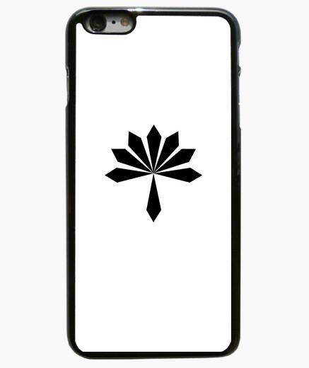 Coque Iphone 6 Plus / 6S Plus fleur en métal noir