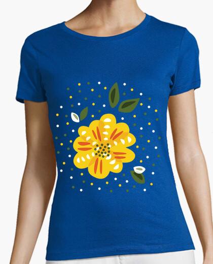 Tee-shirt fleur jaune primevère