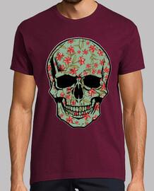 fleurs crâne