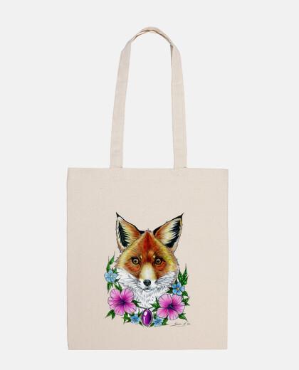 fleurs de tatouage fox sac