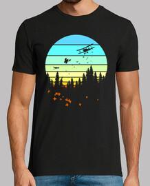 flight through the forest