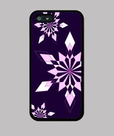 Flocons de neige - Violet