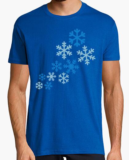 Tee-shirt flocons de neige d'hiver