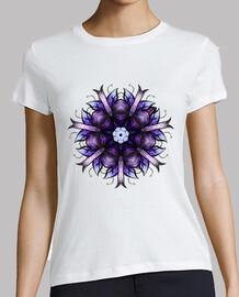 Flor caleidoscópica abstracta en violet