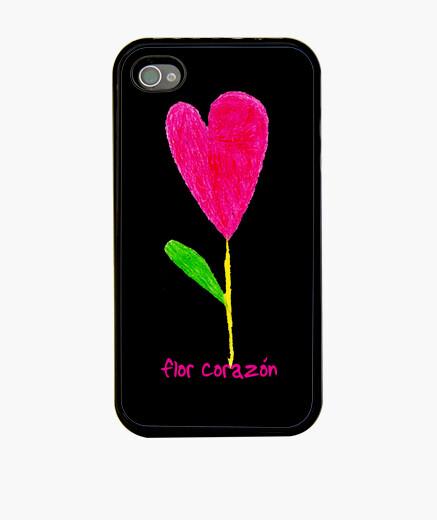 Funda iPhone flor corazon