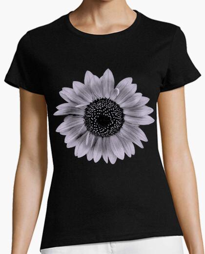 Camiseta Flor de Girasol Malva / Girasoles