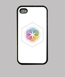Flor de la vida - Funda iPhone 4, blanca