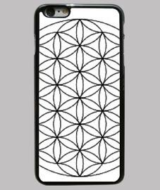 Flor de la vida Funda iPhone 6 Plus, negra