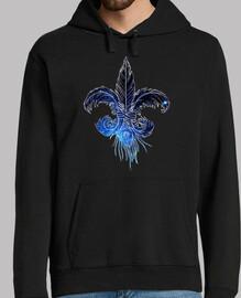 flor de lis plumas galaxia
