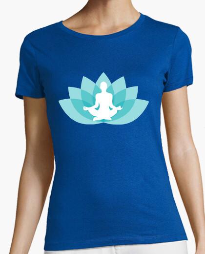 Camiseta Flor de Loto Budismo Azul