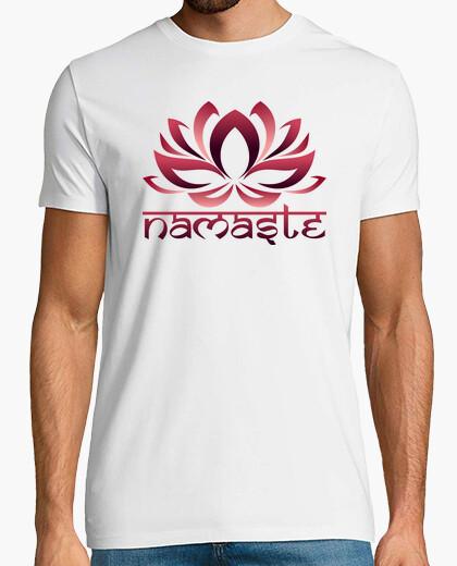 Camiseta flor de loto namaste rojo