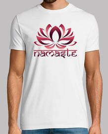 flor de loto namaste rojo