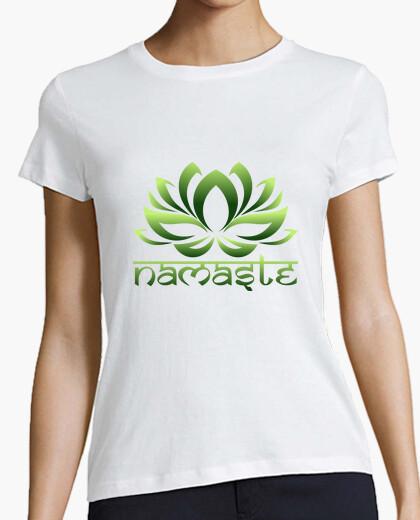 Camiseta flor de loto namaste vida