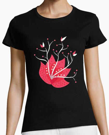 Camiseta flor exótica de invierno