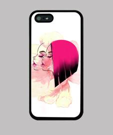 Flor girl Funda iPhone 5 / 5s, negra