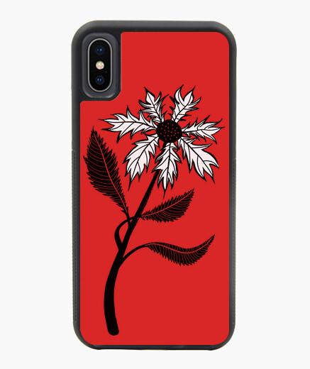 Funda iPhone X / XS flor gótica en blanco y negro en tinta