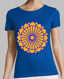Flor naranja budista