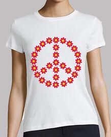 flor roja de la paz