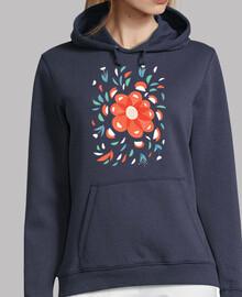 flor roja decorativa caprichosa