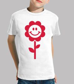 flor roja smiley