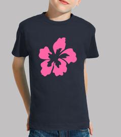 Flor Rosa camiseta niño