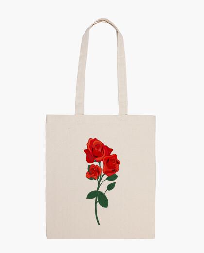 Bolsa flor rosa roja
