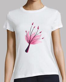 flor rosada abstracta del lirio de agua