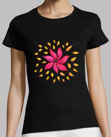 flor rosada caprichosa abstracta de la acuarela