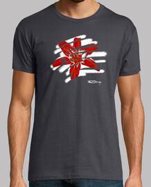 Flor tropical camiseta de hombre