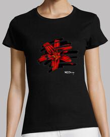 Flor tropical camiseta de mujer