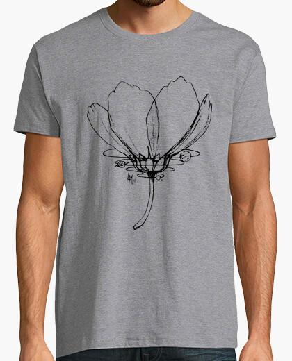 Camiseta Flor y sistema planetario