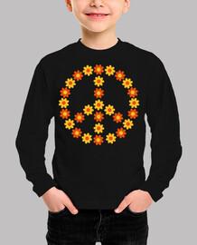 floración de la flor de la paz