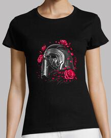 floración oscura hijo camisa para mujer