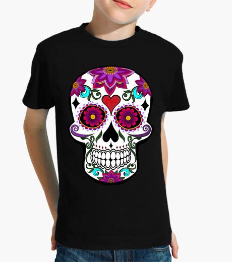 Floral skull kids clothes