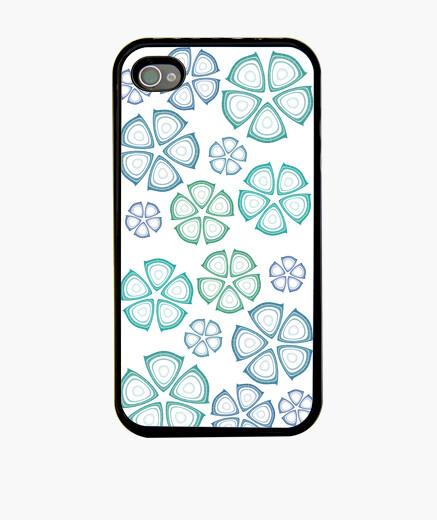 Funda iPhone flores azules iphone 4